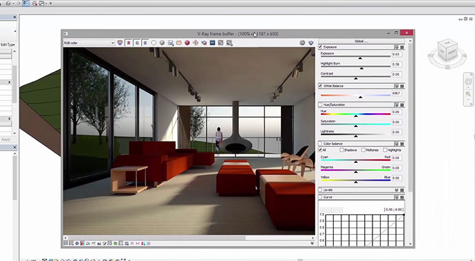 V RAY FRAME BUFFER. V Ray for Revit