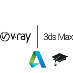 V-Ray for 3ds Max Educational (1 year license) v-ray, vray, 3ds, max, educational, education, rendering, renderer, render, high, fidelity, chaos, group