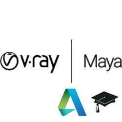 V-Ray for Maya Educational (1 year license) v-ray, vray, maya, phoenix, fd, rendering, renderer, render, high, fidelity, chaos, group, educational, student