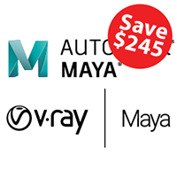 Maya and V-Ray (1 Year) Bundle autodesk, maya, bundle, promo, V-Ray, 3d modeling, 3d rendering, dynamics, annual, pipeline, animation, rigging