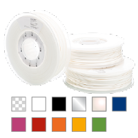 PLA (750g) PLA, PLA Transparent, PLA clear, PLA white, PLA black, PLA silver, PLA grey, PLA gray, PLA pearl white, PLA blue, PLA magenta, PLA red, PLA orange, PLA yellow, PLA green, Ultimaker 2+, Ultimaker 2+ Extended, Ultimaker 3, Ultimaker, 3D printer, Ultimaker 3D printer, 3D printing, desktop 3D printer, dual extrusion