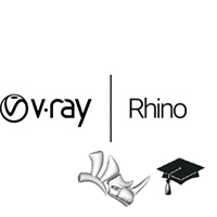 V-Ray for Rhino Educational (1 year license) v-ray, vray, rhino, phoenix, fd, rendering, renderer, render, high, fidelity, chaos, group, educational, student
